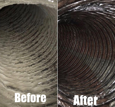Before & After Duct Cleaning